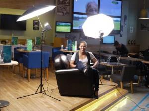 Shooting de Lucie Décosse à Infosport